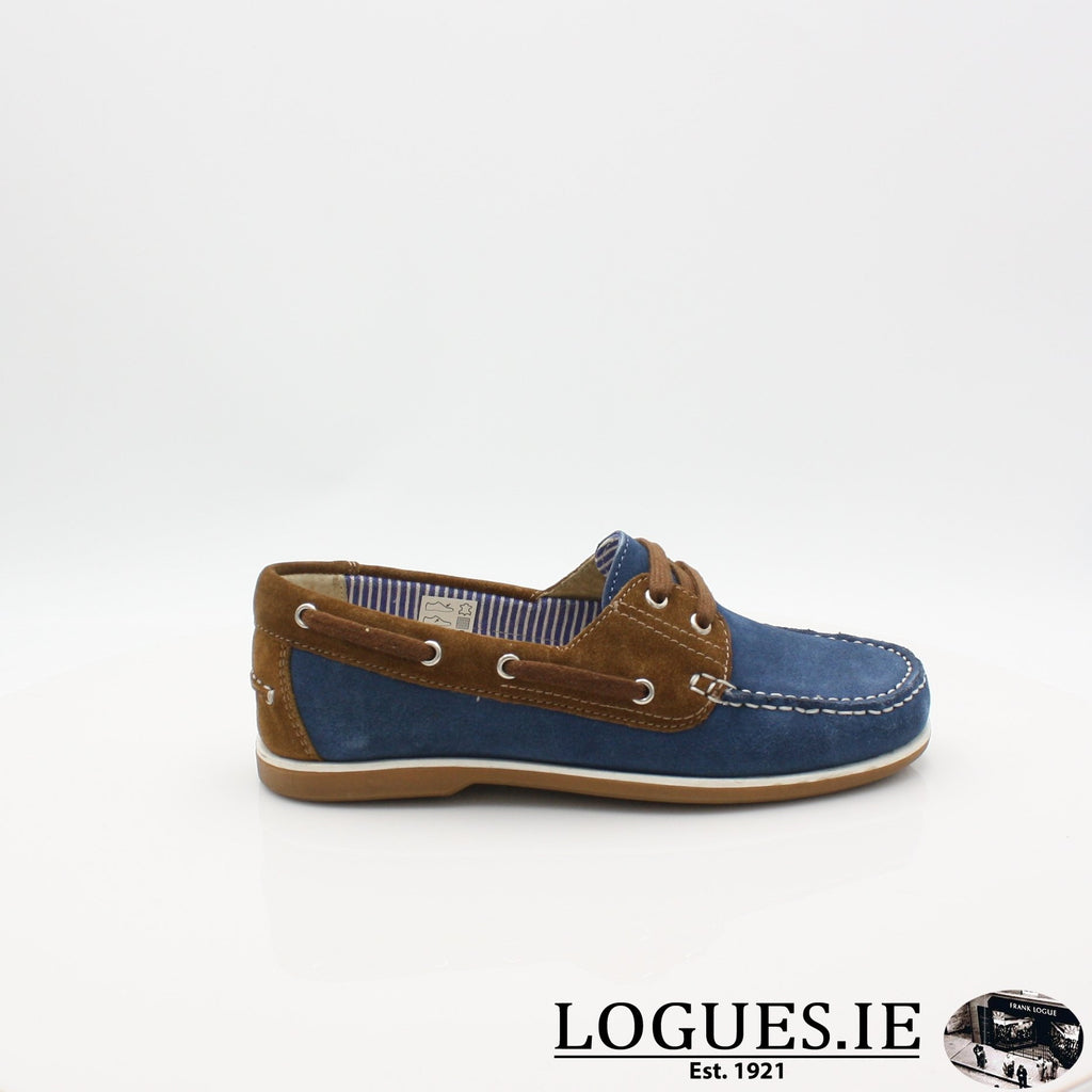 DUB HAYES 1613LadiesLogues ShoesDENIM/TAN / 3 UK- 36 EU - 5 US