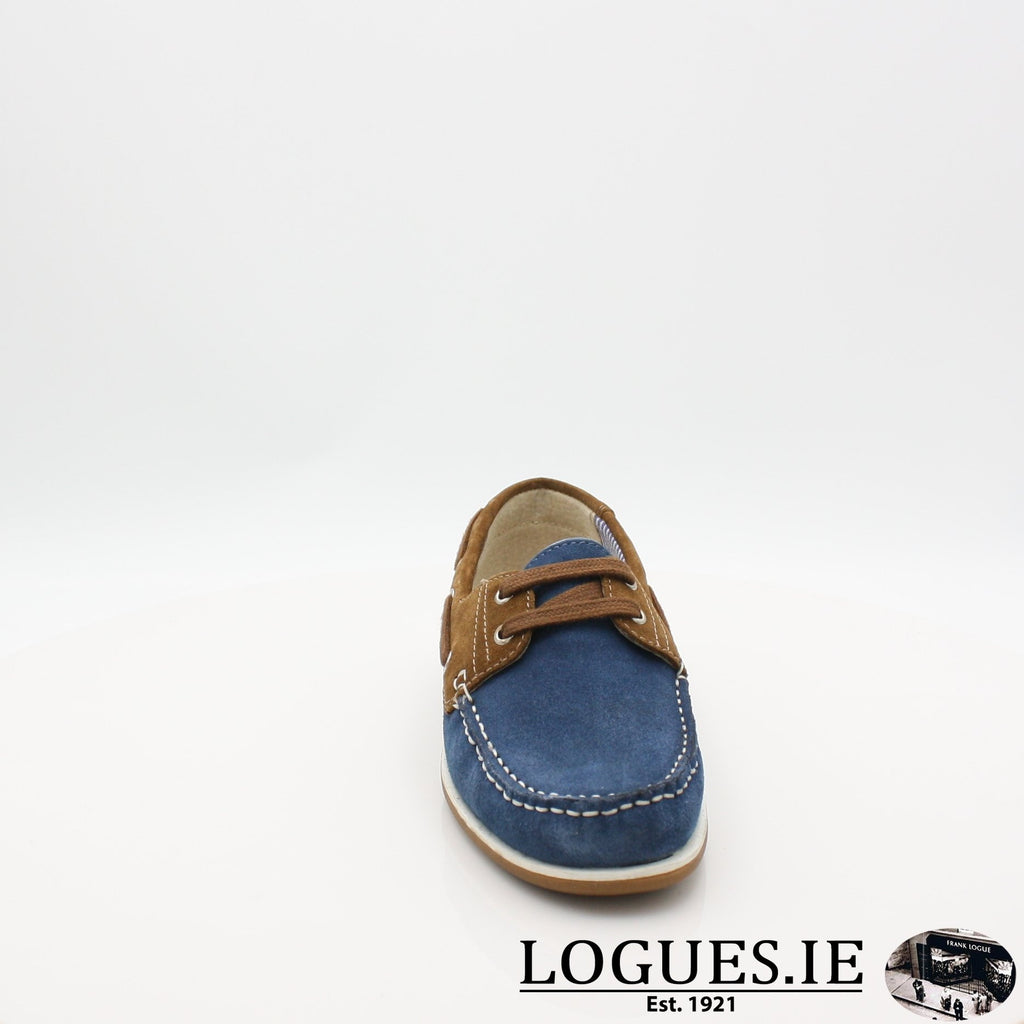 DUB HAYES 1613LadiesLogues ShoesDENIM/TAN / 5 UK- 38 EU- 7 US