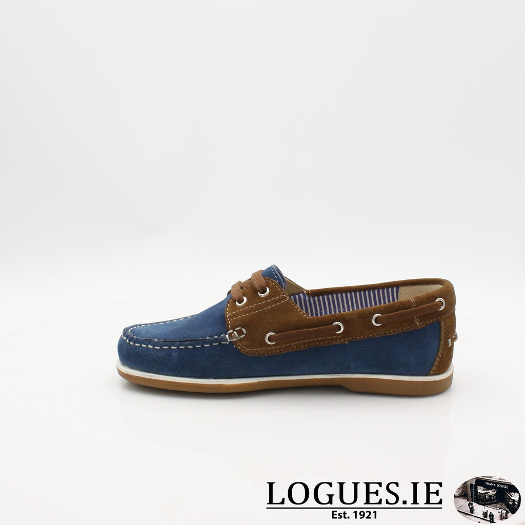 DUB HAYES 1613LadiesLogues ShoesDENIM/TAN / 7 UK- 41 EU - 9 US