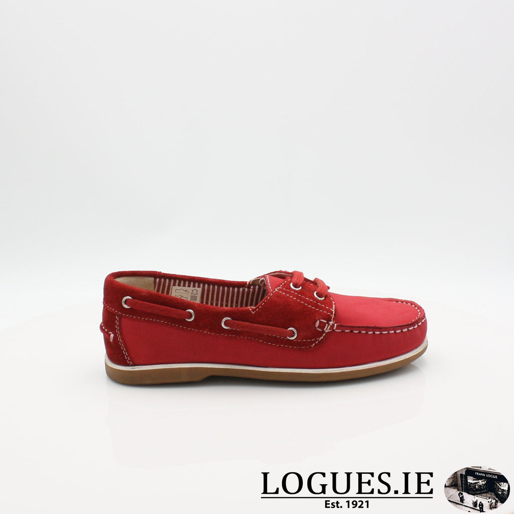 DUB HAYES 1613LadiesLogues ShoesRED / 3 UK- 36 EU - 5 US