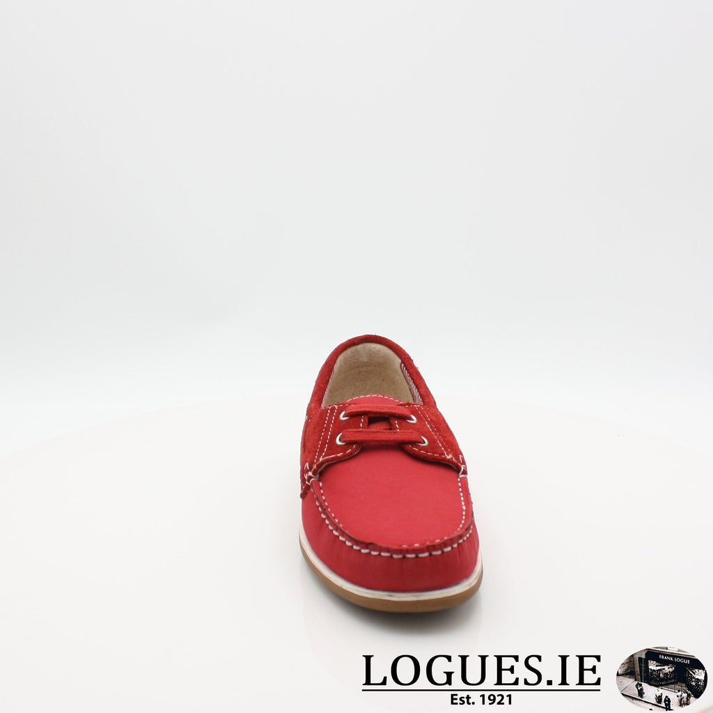 DUB HAYES 1613LadiesLogues ShoesRED / 5 UK- 38 EU- 7 US