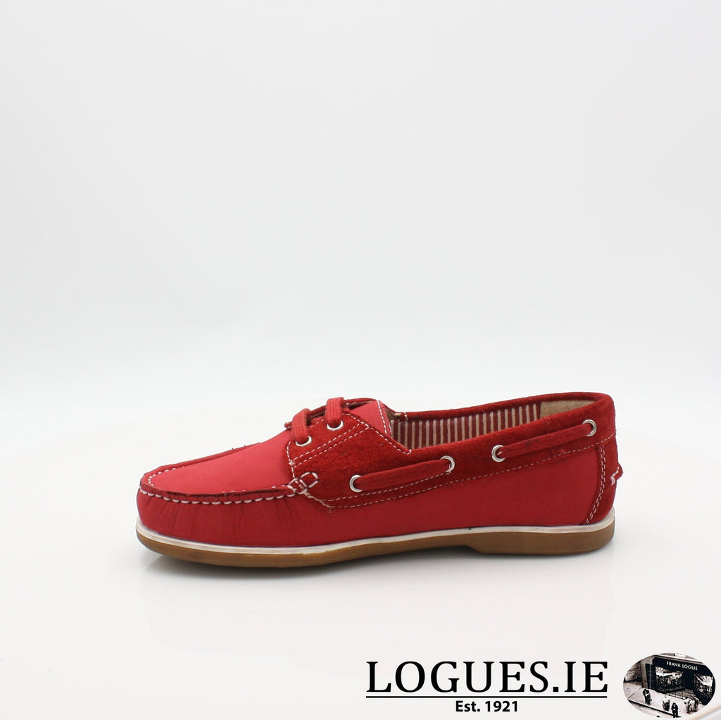 DUB HAYES 1613LadiesLogues ShoesRED / 7 UK- 41 EU - 9 US