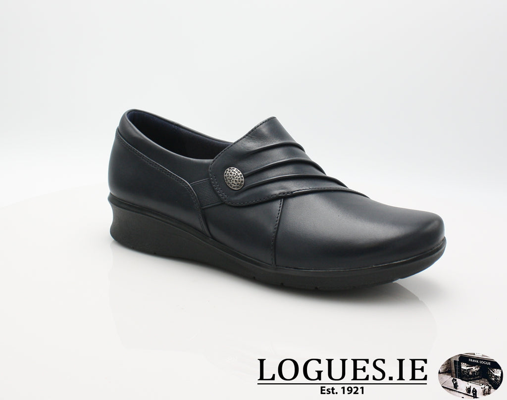 Hope Roxanne CLARKS 19-Ladies-Clarks-Navy-045-E-Logues Shoes
