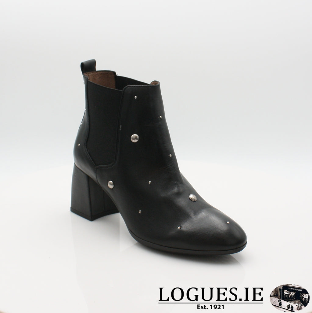 I7710  WONDERS 19BOOTSLogues ShoesISEO NEGRO / 4 UK -37 EU - 6 US