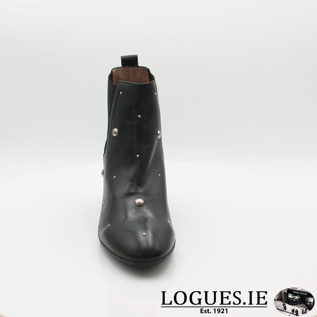 I7710  WONDERS 19BOOTSLogues ShoesISEO NEGRO / 5 UK- 38 EU- 7 US