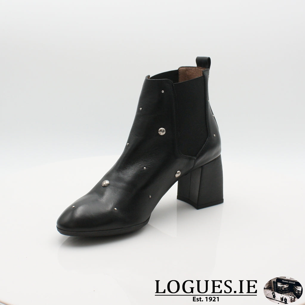 I7710  WONDERS 19BOOTSLogues ShoesISEO NEGRO / 6 UK- 39 EU - 8 US