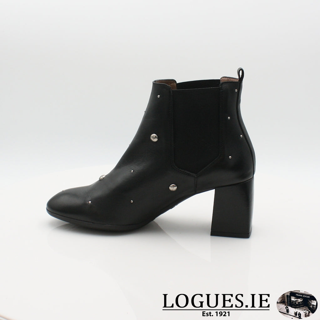 I7710  WONDERS 19BOOTSLogues ShoesISEO NEGRO / 6.5 UK - 40 EU -8.5 US