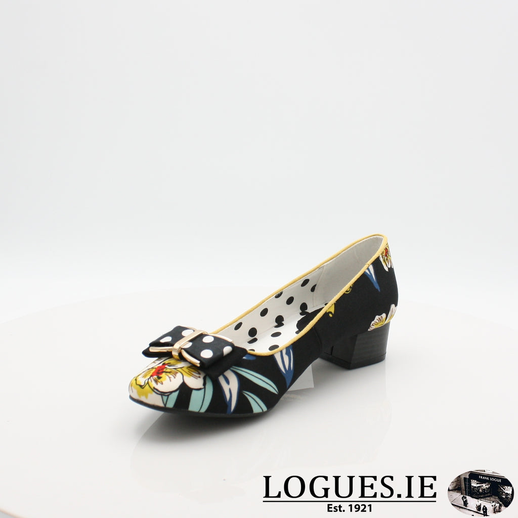 JUNE RUBY SHOO S19-Ladies-RUBY SHOO-BLACK FLORAL-3 UK- 36 EU - 5 US-Logues Shoes
