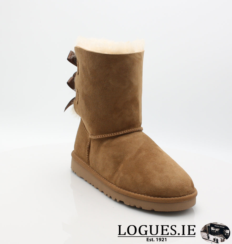 UGGS KIDS BAILEY BOW 3280K-SALE-UGGS FOOTWEAR-CHESNUT-2 US 1 UK-Logues Shoes