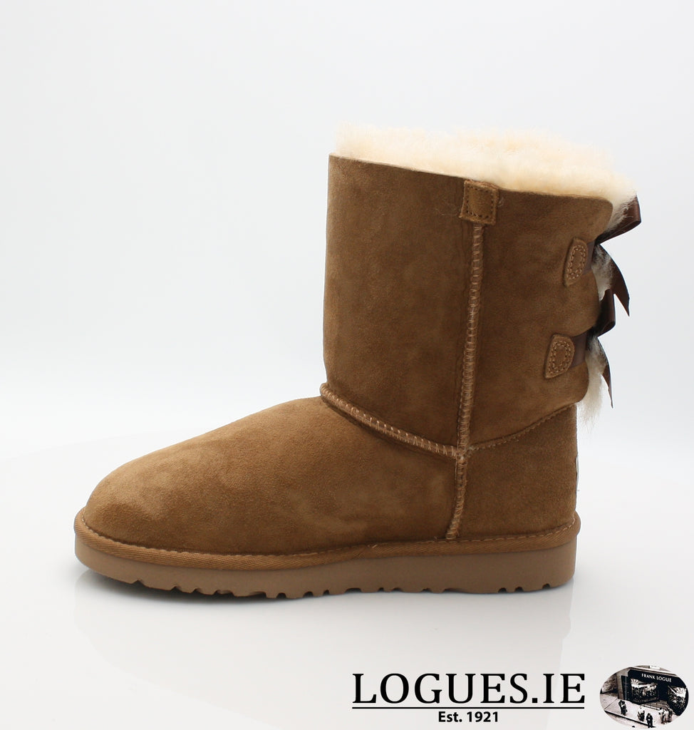 UGGS KIDS BAILEY BOW 3280K-SALE-UGGS FOOTWEAR-CHESNUT-4 US 3 UK-Logues Shoes