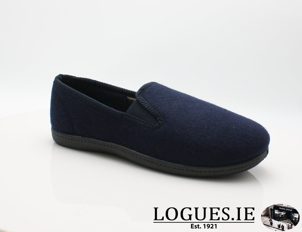 CLA King Twin-Mens-Clarks-Navy-070-G-Logues Shoes
