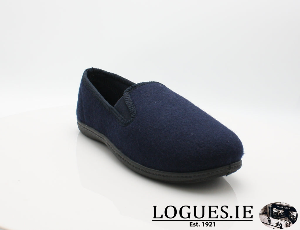 CLA King Twin-Mens-Clarks-Navy-080-G-Logues Shoes