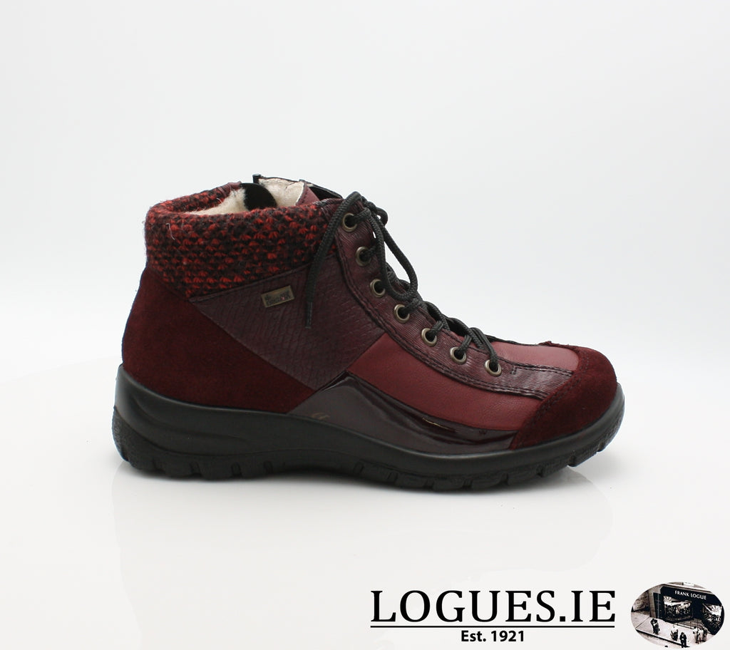 RKR L7143-Ladies-RIEKIER SHOES-pomerol/vino/bord 35-36-Logues Shoes
