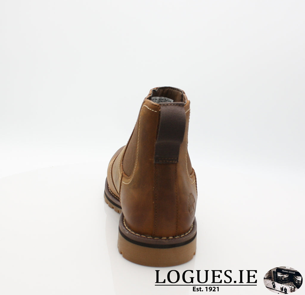 CA13HZ LARCHMONT CHELSEA-Mens-TIMBERLAND SHOES-BROWN-12 US = 11.5 UK-Logues Shoes