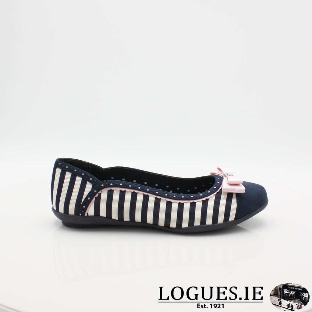 LIZZIE RUBY SHOO S19-Ladies-RUBY SHOO-NAVY STRIPE-3 UK- 36 EU - 5 US-Logues Shoes
