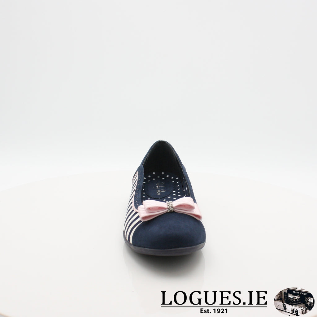 LIZZIE RUBY SHOO S19-Ladies-RUBY SHOO-NAVY STRIPE-4 UK -37 EU - 6 US-Logues Shoes
