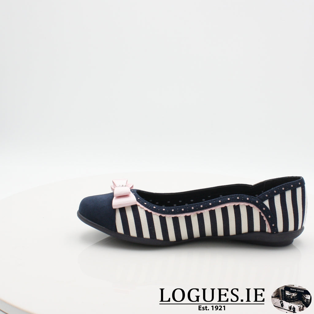 LIZZIE RUBY SHOO S19-Ladies-RUBY SHOO-NAVY STRIPE-5 UK- 38 EU- 7 US-Logues Shoes