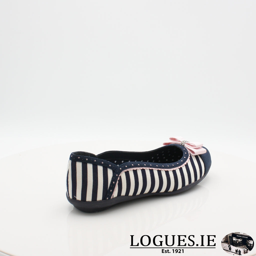 LIZZIE RUBY SHOO S19-Ladies-RUBY SHOO-NAVY STRIPE-6.5 UK - 40 EU -8.5 US-Logues Shoes