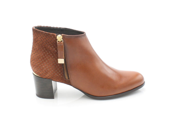 9041  LEANA T AW17LadiesLogues ShoesBRANDY / 37 = 4 UK