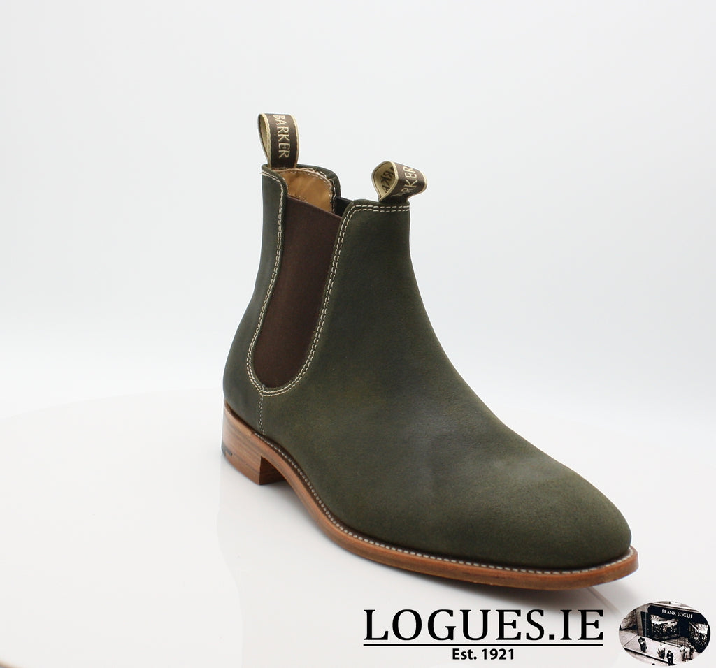 MANSFIELD BARKER-Mens-BARKER SHOES-GREEN-6 UK-Logues Shoes