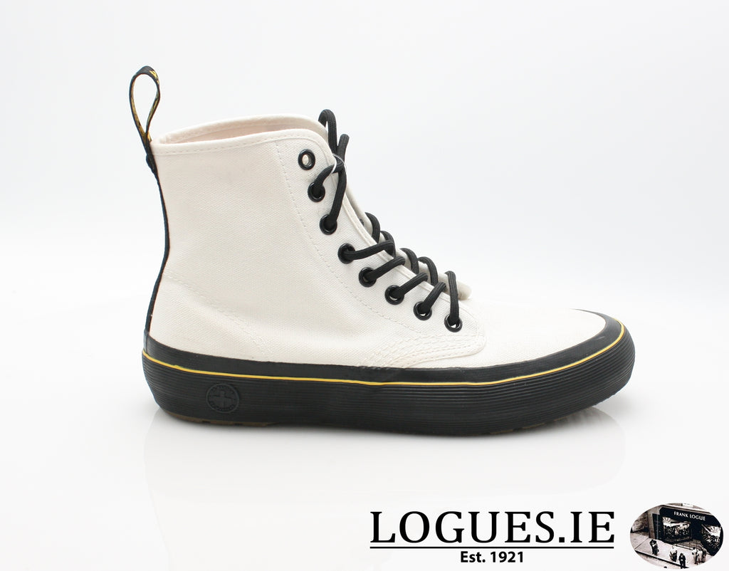 MONET 21968 DR MARTENS-Ladies-Dr Martins-WHITE CANVAS 100-3 UK-Logues Shoes