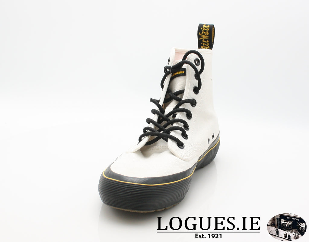 MONET 21968 DR MARTENS-Ladies-Dr Martins-WHITE CANVAS 100-5 UK-Logues Shoes