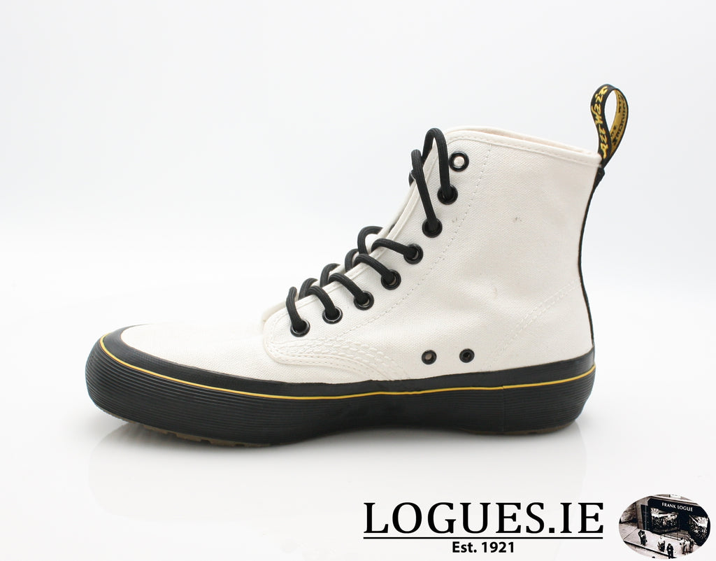 MONET 21968 DR MARTENS-Ladies-Dr Martins-WHITE CANVAS 100-6 UK-Logues Shoes