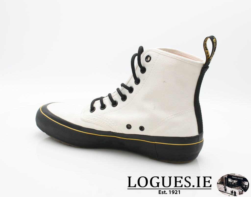 MONET 21968 DR MARTENS-Ladies-Dr Martins-WHITE CANVAS 100-7 UK-Logues Shoes