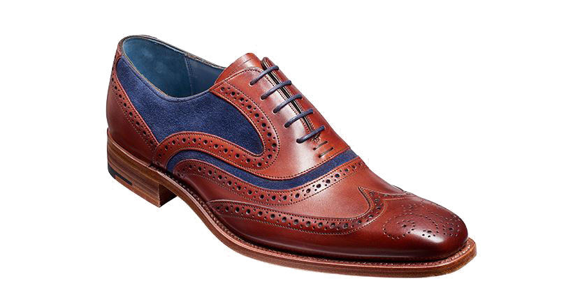 MC CLEAN BARKER-Mens-BARKER SHOES-ROSEWOOD NAVY-6-Logues Shoes