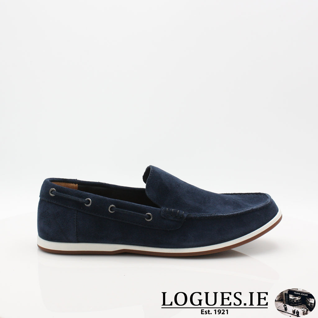 Morven Sun CLARKS 19-Mens-Clarks-Navy-065-G-Logues Shoes
