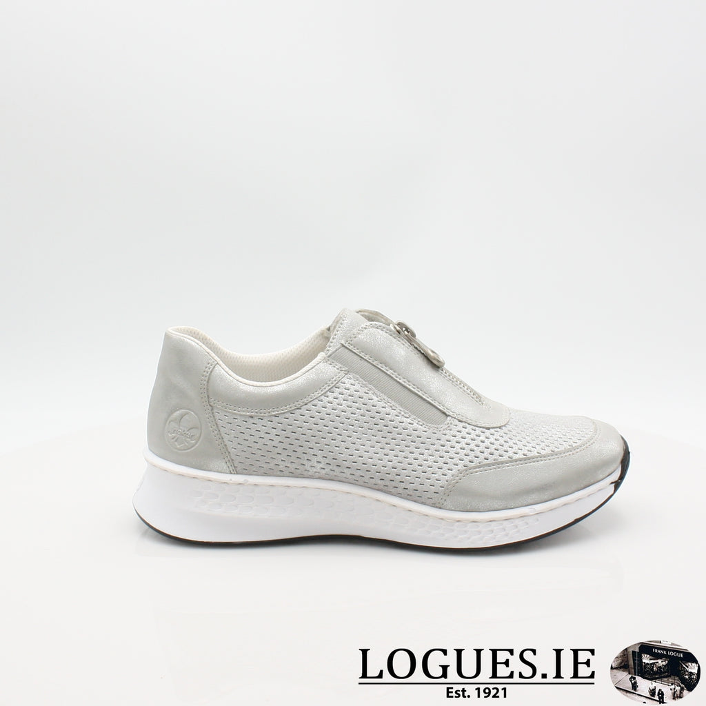 N5657  RIEKER 19LadiesLogues Shoesgrey 40 / 35