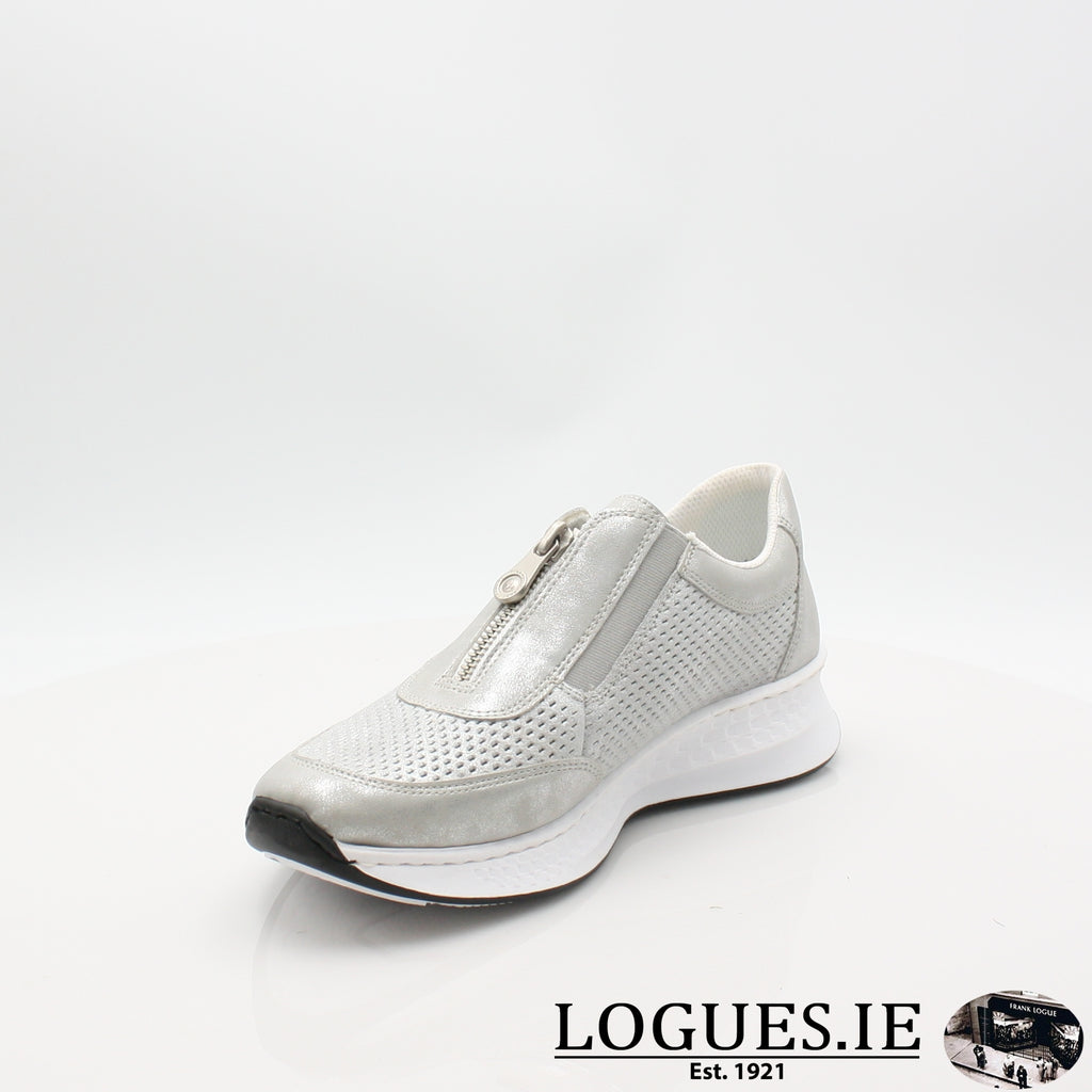 N5657  RIEKER 19LadiesLogues Shoesgrey 40 / 37