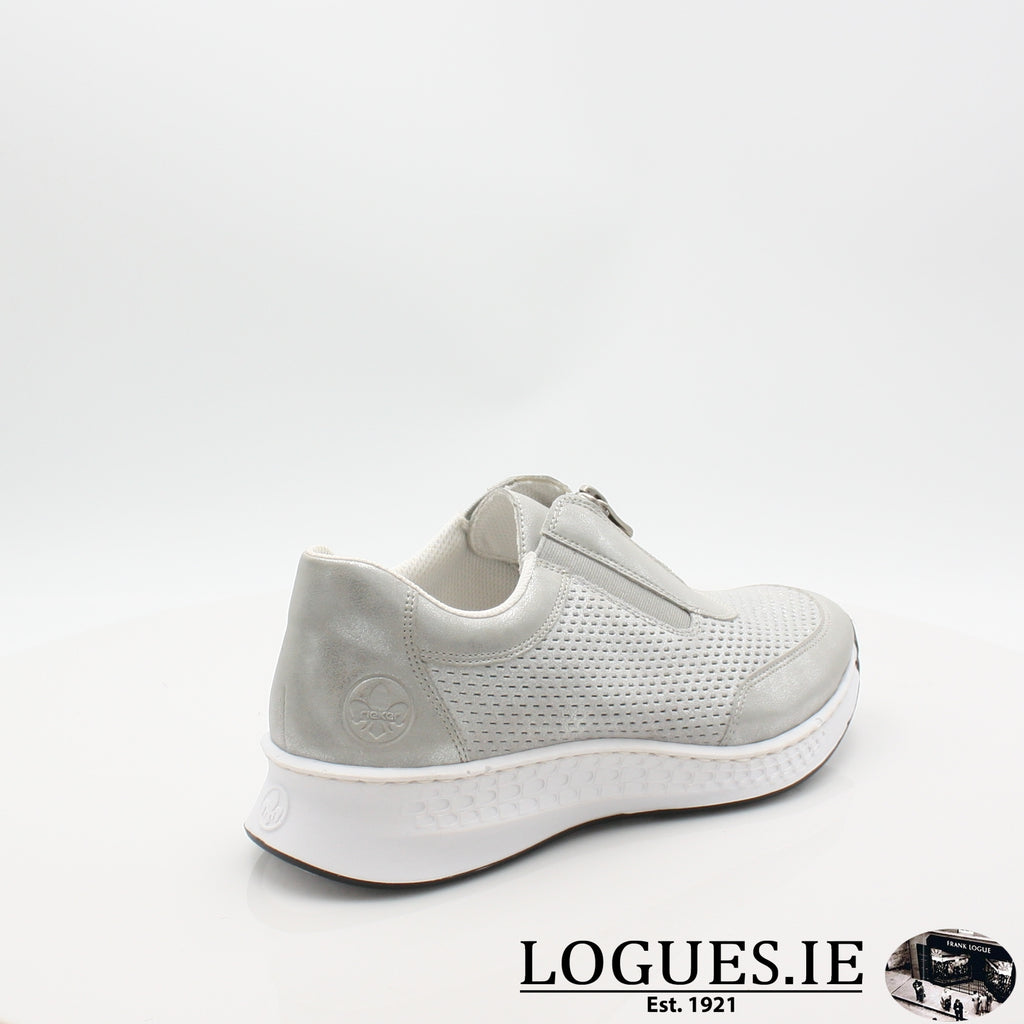 N5657  RIEKER 19LadiesLogues Shoesgrey 40 / 41
