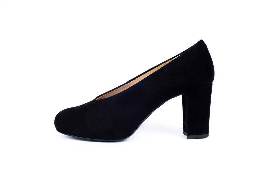 NEBULA_CLASSIC UNSIA 19LadiesLogues ShoesBLACK KID SUEDE / 41 EU - 9 US- 7/8UK