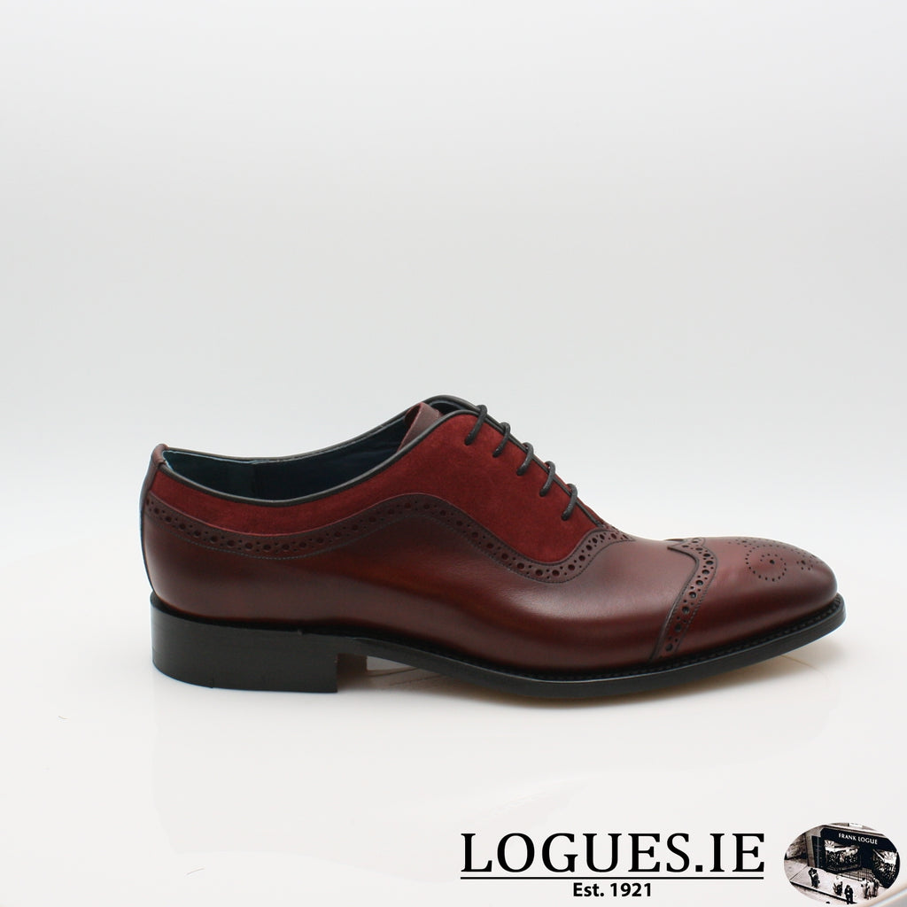 NICHOLAS BARKER 19MensLogues ShoesCHERRY CALF/BURG SUEDE / 6 UK