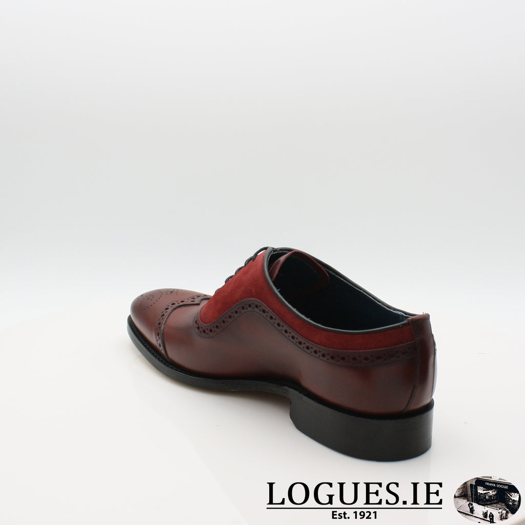 NICHOLAS BARKER 19MensLogues ShoesCHERRY CALF/BURG SUEDE / 8.5UK