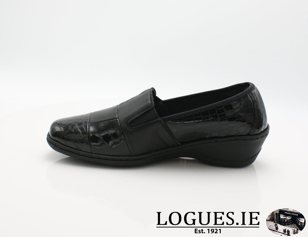 2298 NOTTON W 2018LadiesLogues ShoesBLACK ( NEGRO ) / 39 = 6 UK