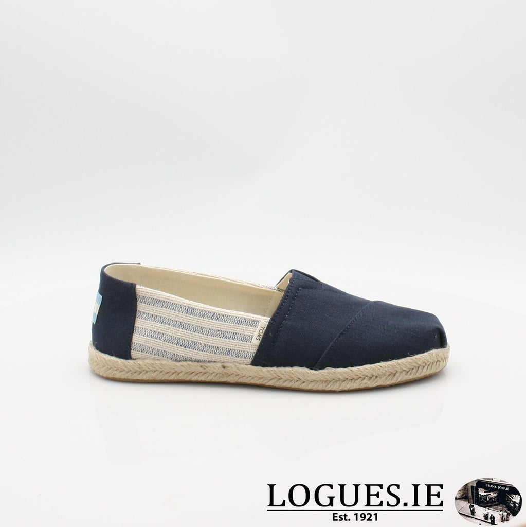 10013504 ALPARGATA TOMS S19LadiesLogues ShoesNAVY / 4 UK -37 EU - 6 US