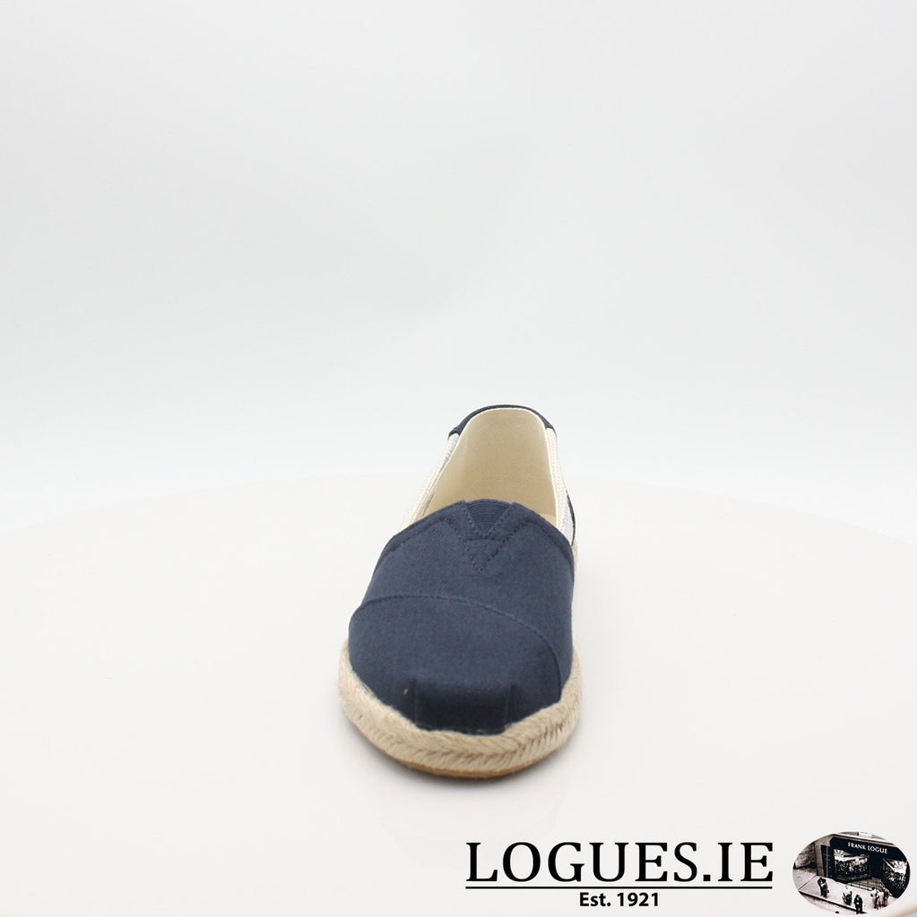 10013504 ALPARGATA TOMS S19LadiesLogues ShoesNAVY / 6 UK- 39 EU - 8 US