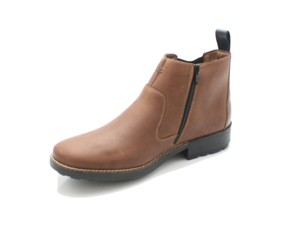 RKR 36062-Mens-RIEKIER SHOES-25 Marrone/Mogano/Pa-48-Logues Shoes