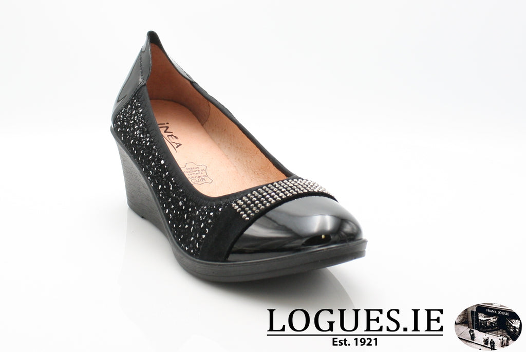 SAGAIB INEA A/W18-Ladies-INEA SHOES-15 NOIR-SILVER-36 = 3 UK-Logues Shoes