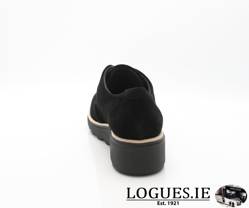 CLA Sharon Noel-Ladies-Clarks-Black Nubuck-075-D-Logues Shoes