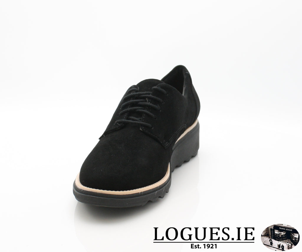 CLA Sharon Noel-Ladies-Clarks-Black Nubuck-055-D-Logues Shoes