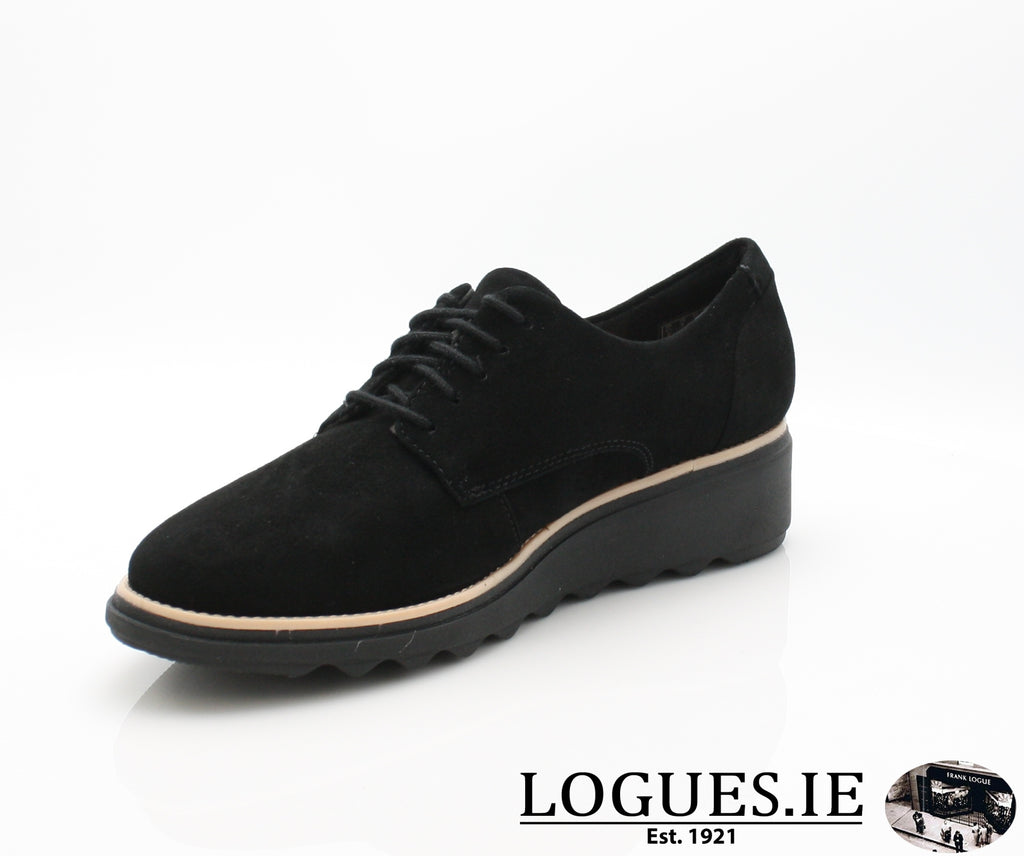 CLA Sharon Noel-Ladies-Clarks-Black Nubuck-060-D-Logues Shoes