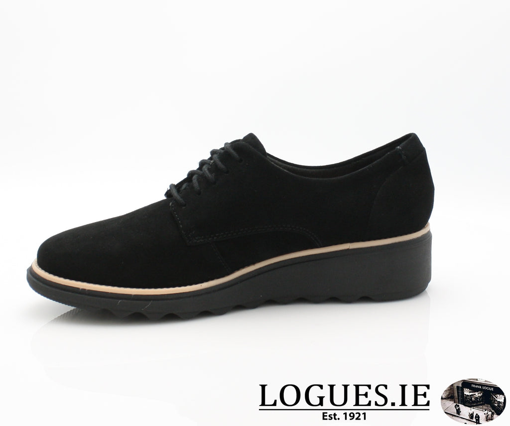 CLA Sharon Noel-Ladies-Clarks-Black Nubuck-065-D-Logues Shoes