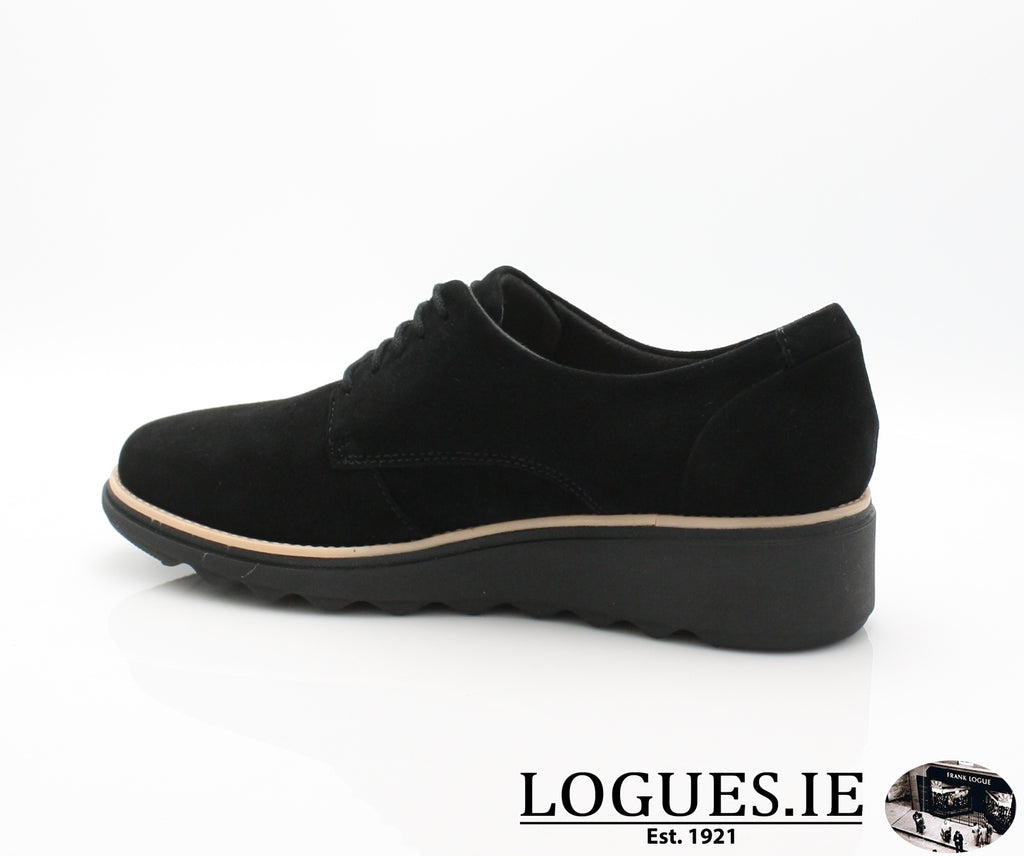 CLA Sharon Noel-Ladies-Clarks-Black Nubuck-070-D-Logues Shoes
