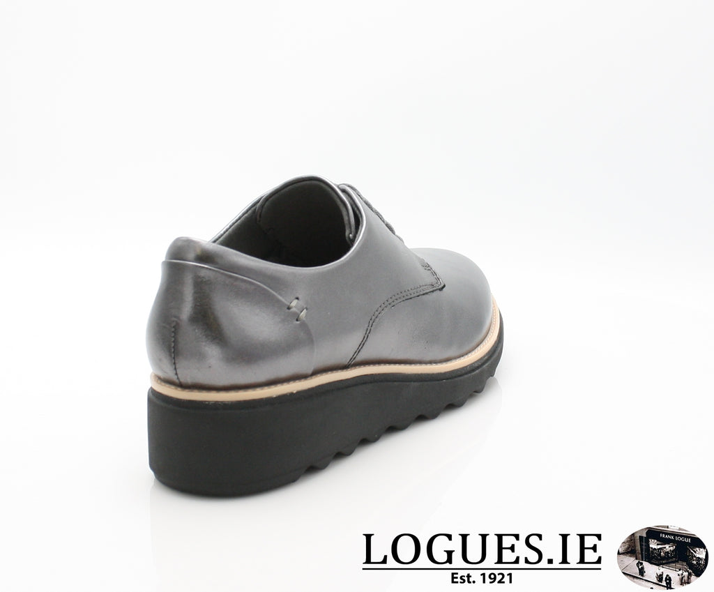 CLA Sharon Noel-Ladies-Clarks-Gun Metal Lea-075-D-Logues Shoes