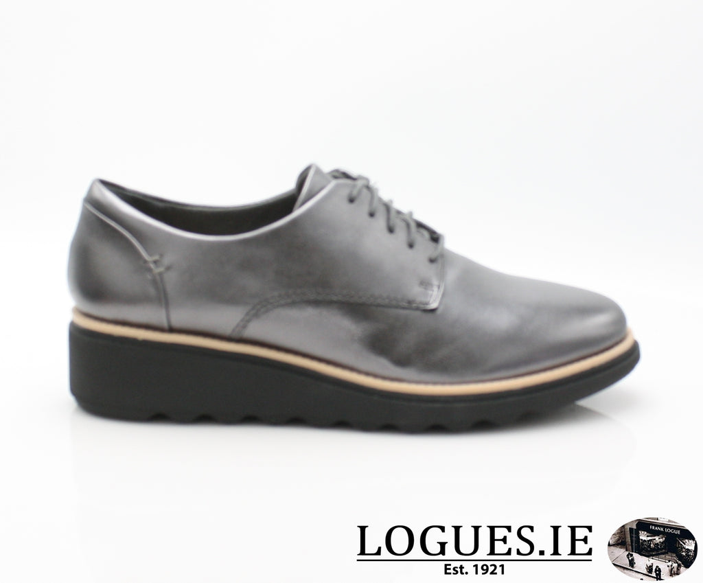 CLA Sharon Noel-Ladies-Clarks-Gun Metal Lea-040-D-Logues Shoes