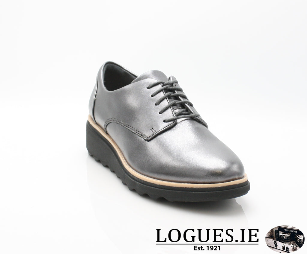 CLA Sharon Noel-Ladies-Clarks-Gun Metal Lea-045-D-Logues Shoes