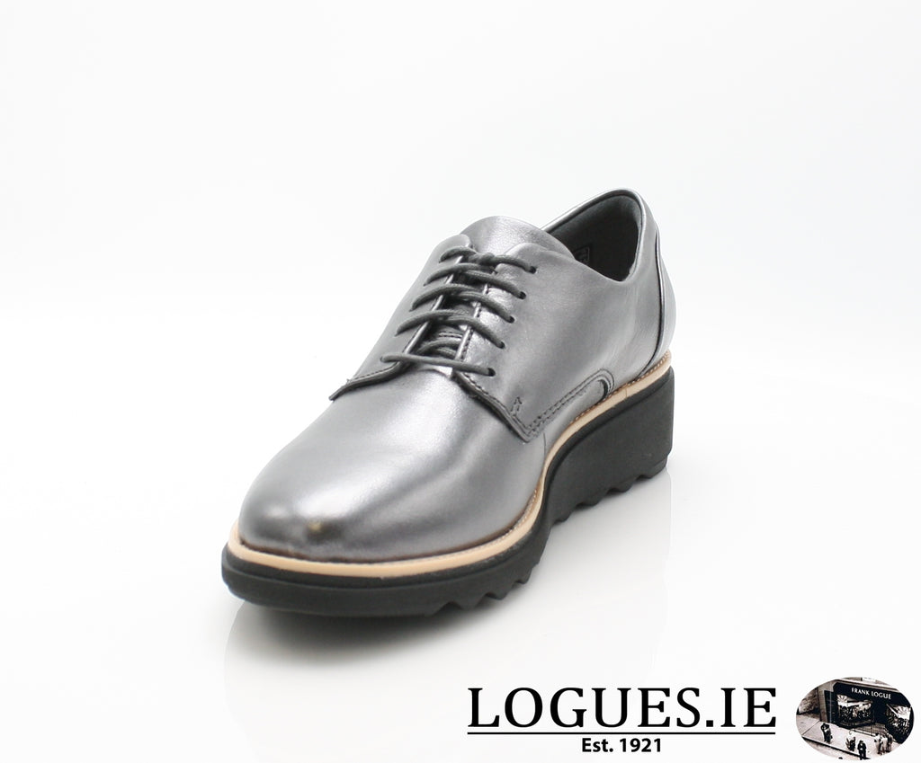 CLA Sharon Noel-Ladies-Clarks-Gun Metal Lea-055-D-Logues Shoes